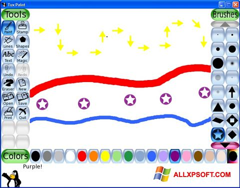 স্ক্রিনশট Tux Paint Windows XP
