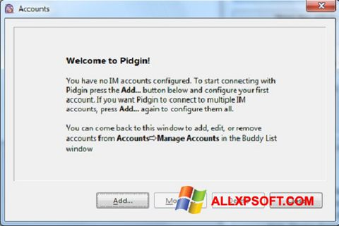 স্ক্রিনশট Pidgin Windows XP