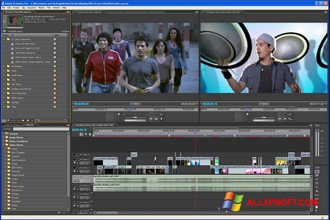 স্ক্রিনশট Adobe Premiere Pro Windows XP