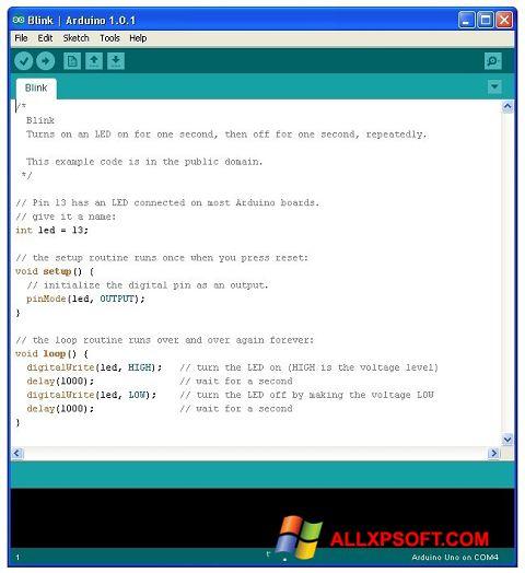 স্ক্রিনশট Arduino Windows XP