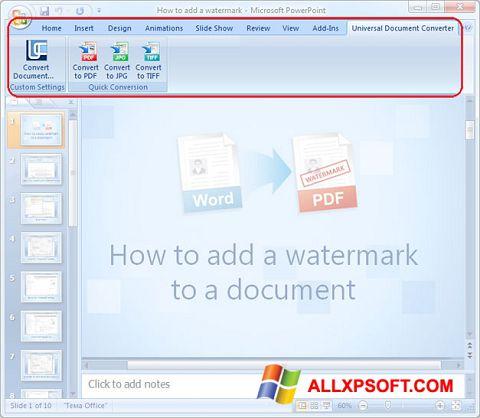 স্ক্রিনশট Microsoft PowerPoint Windows XP