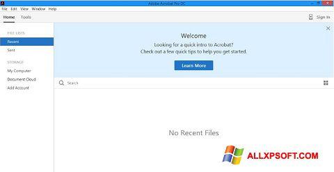 স্ক্রিনশট Adobe Acrobat Pro DC Windows XP