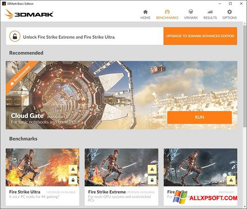 স্ক্রিনশট 3DMark Windows XP
