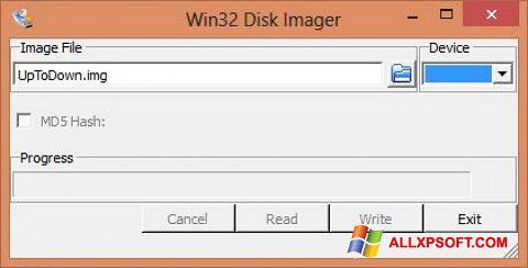 স্ক্রিনশট Win32 Disk Imager Windows XP
