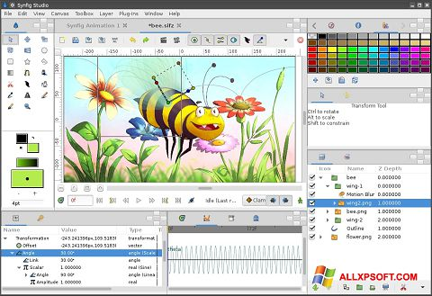 স্ক্রিনশট Synfig Studio Windows XP