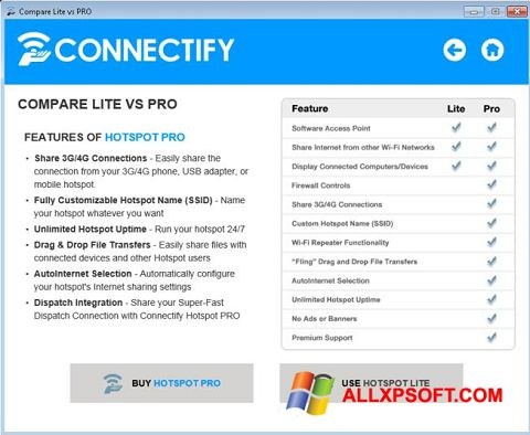 স্ক্রিনশট Connectify Beta Windows XP