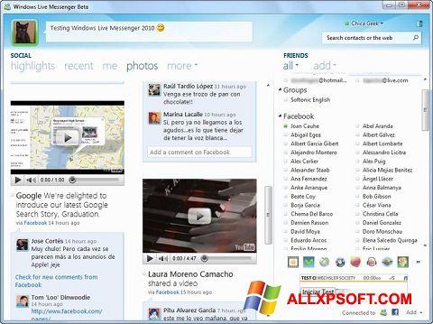 স্ক্রিনশট Windows Live Messenger Windows XP