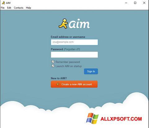 স্ক্রিনশট AOL Instant Messenger Windows XP