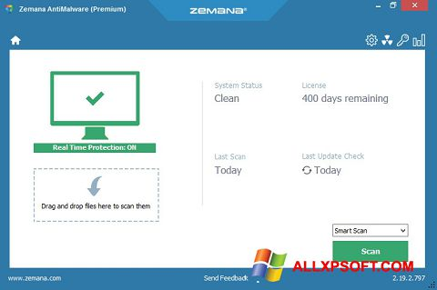 স্ক্রিনশট Zemana AntiMalware Windows XP