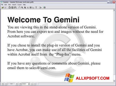 স্ক্রিনশট Gemini Windows XP