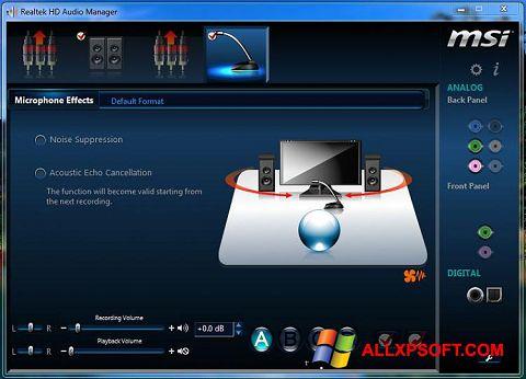 স্ক্রিনশট Realtek Audio Driver Windows XP