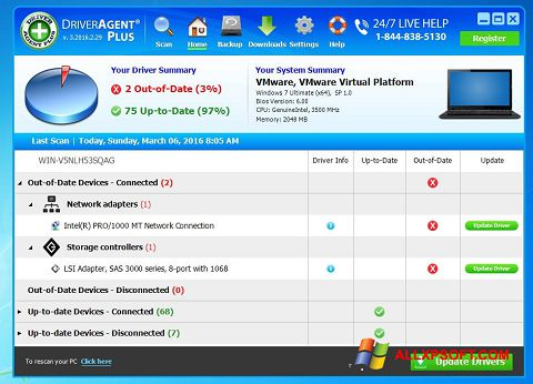 স্ক্রিনশট DriverAgent Windows XP