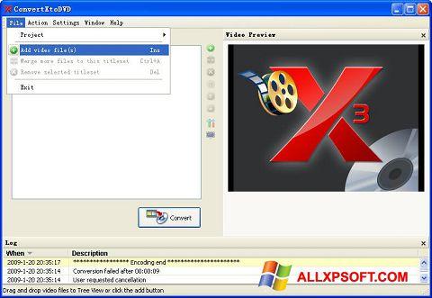 স্ক্রিনশট ConvertXToDVD Windows XP