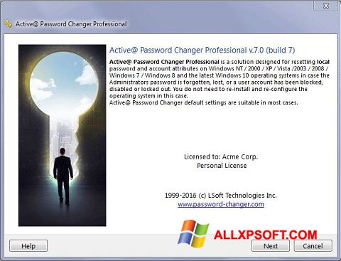 স্ক্রিনশট Active Password Changer Windows XP