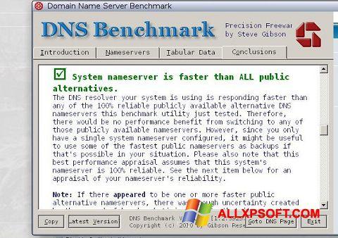 স্ক্রিনশট DNS Benchmark Windows XP