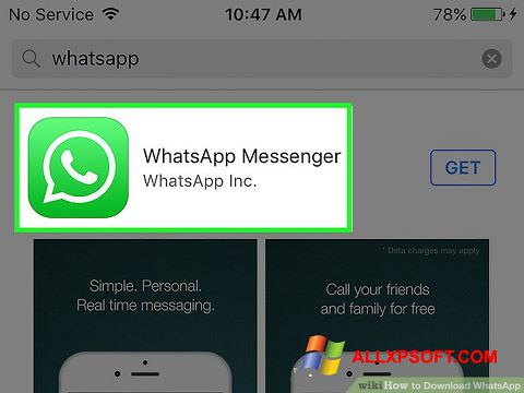 স্ক্রিনশট WhatsApp Windows XP