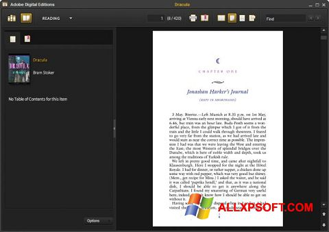 স্ক্রিনশট Adobe Digital Editions Windows XP