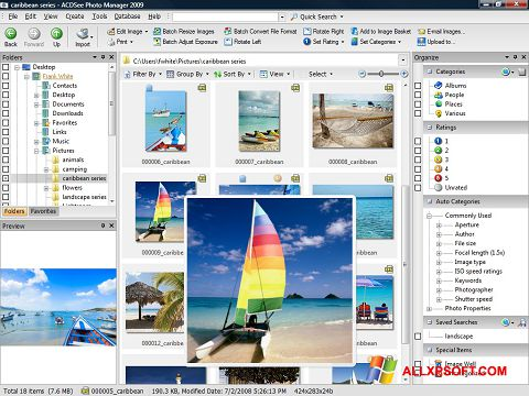 স্ক্রিনশট ACDSee Photo Manager Windows XP