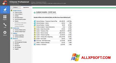 স্ক্রিনশট CCleaner Professional Plus Windows XP