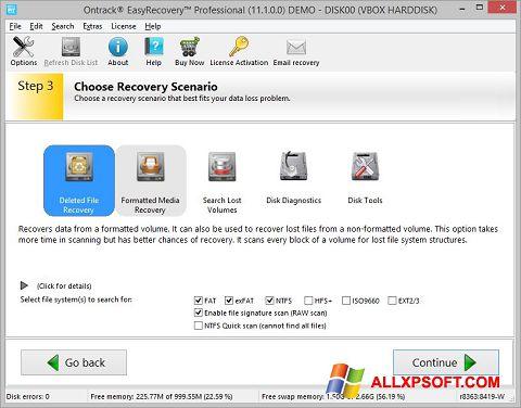 স্ক্রিনশট EasyRecovery Professional Windows XP