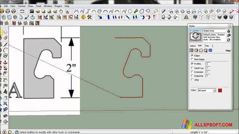 স্ক্রিনশট SketchUp Windows XP