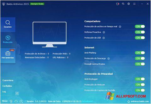 স্ক্রিনশট Baidu Antivirus Windows XP