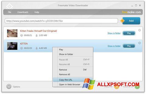 স্ক্রিনশট Freemake Video Downloader Windows XP