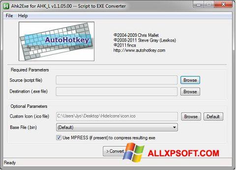 স্ক্রিনশট AutoHotkey Windows XP