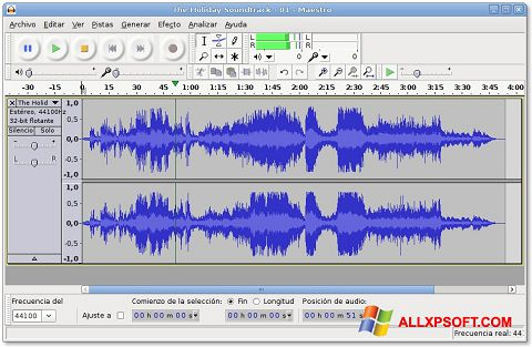 স্ক্রিনশট Audacity Windows XP