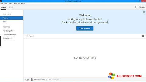 স্ক্রিনশট Adobe Acrobat Pro Windows XP