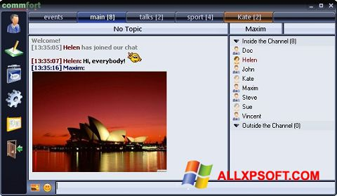 স্ক্রিনশট CommFort Windows XP