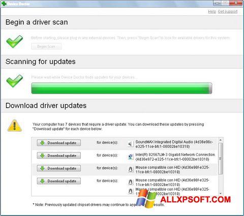 স্ক্রিনশট Device Doctor Windows XP