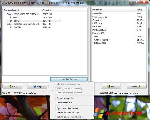 স্ক্রিনশট Zero Assumption Recovery Windows XP