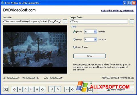 স্ক্রিনশট Free Video to JPG Converter Windows XP
