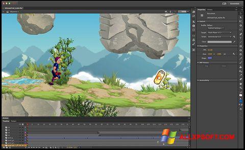 স্ক্রিনশট Adobe Flash Professional Windows XP