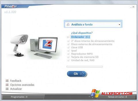 স্ক্রিনশট PrivaZer Windows XP