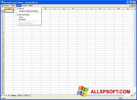 স্ক্রিনশট Excel Viewer Windows XP