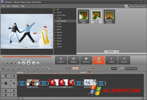 স্ক্রিনশট Movavi Video Suite Windows XP