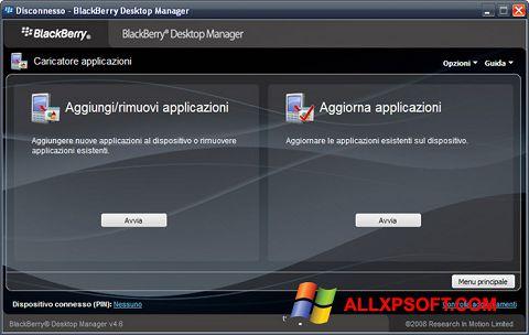 স্ক্রিনশট BlackBerry Desktop Manager Windows XP