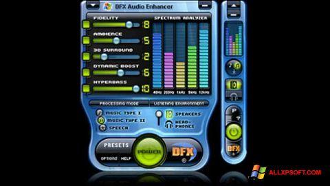স্ক্রিনশট DFX Audio Enhancer Windows XP