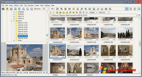 স্ক্রিনশট FastStone Image Viewer Windows XP