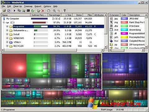 স্ক্রিনশট WinDirStat Windows XP