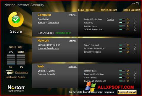 স্ক্রিনশট Norton Internet Security Windows XP