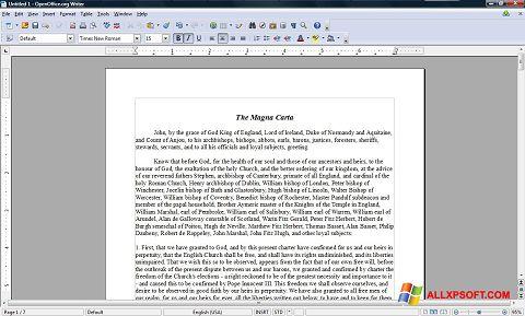 স্ক্রিনশট OpenOffice Windows XP