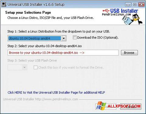 স্ক্রিনশট Universal USB Installer Windows XP