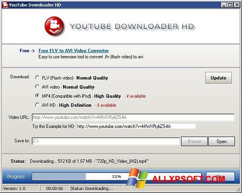 স্ক্রিনশট Youtube Downloader HD Windows XP
