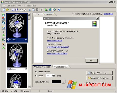 স্ক্রিনশট Easy GIF Animator Windows XP