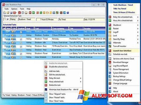 স্ক্রিনশট Auto ShutDown Windows XP